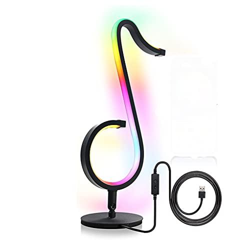 DDLMM Luz de Noche RGB Lámpara de Mesa sinfónica Control Remoto Sinfonía Nota Musical Luz de luz de Escritorio de la luz de Escritorio for la Barra de Inicio