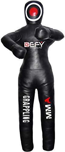 DEFY Leather Jiu Jitsu MMA Grappling Dummy Judo Martial Arts Punching Bag Karate (6 Feet)