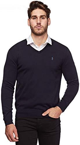 Ralph Lauren - Jersey para hombre azul marino S