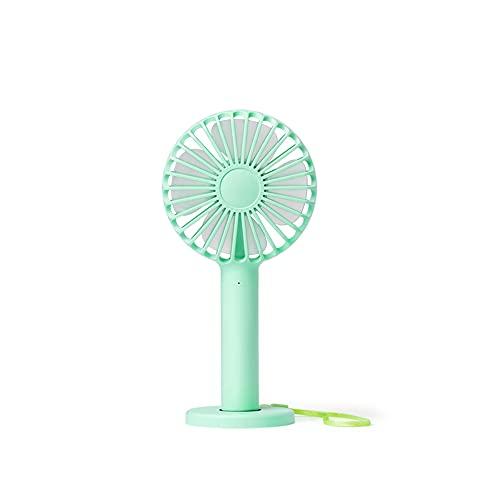 Electric fan Lleva el ventilador de carga USB con tu estudiante lindo escritorio cama dormitorio oficina silencio portátil pequeño ventilador recargable pequeño