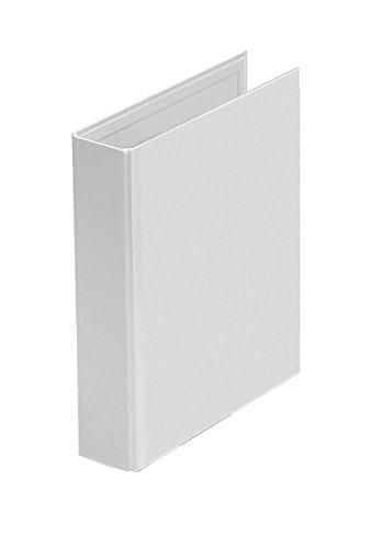 Veloflex 4157390 Präsentationsringbuch Velodur, DIN A5, 2-Ring-Mechanik, 201 x 230 x 46, mit Außentaschen,weiß