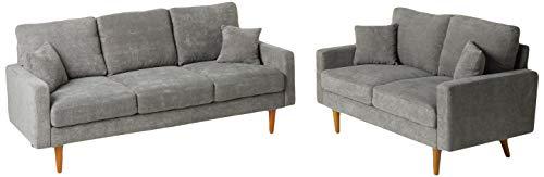 US Pride Furniture Macsen 2 Piece Living Room Set, Grey