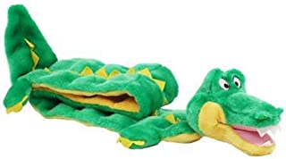 Outward Hound Squeaker Matz Squeaky Dog Toy – Interactive Cuddly Gator Soft Toy for Dogs - Tough & Durable Plush Fluffy Toy for Awesome Pets, Ginormous