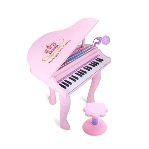Digitale piano Children's Keyboard Piano Piano Beginner 3-6 jaar kan spelen Grote Piano Music Toy Verlichting Teaching Kerst Surprise Gift (Kleur: Roze) (Color : Pink)