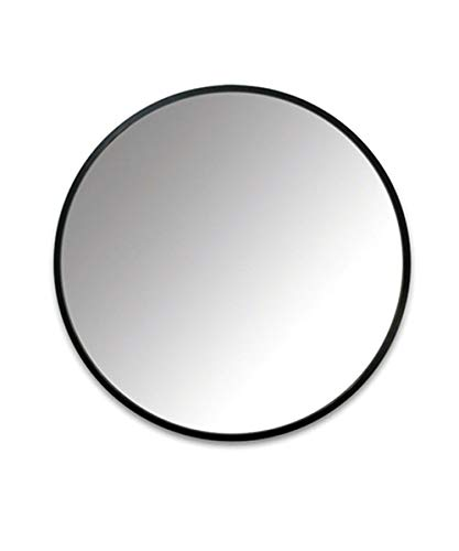 Espejo de Pared Grande, Marco Pintado de Hierro Forjado, Espejo de Pared HD de (30cm-90cm), Adecuado para pasaje de Entrada, Sala de Estar, baño, etc, Negro