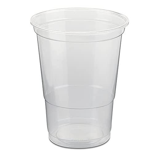 Trinkbecher | Eichstrich 0,4l | Bierbecher Plastikbecher Einwegbecher aus Kunststoff PP (Polypropylen), Transparent klar | Ausschankbecher (100)
