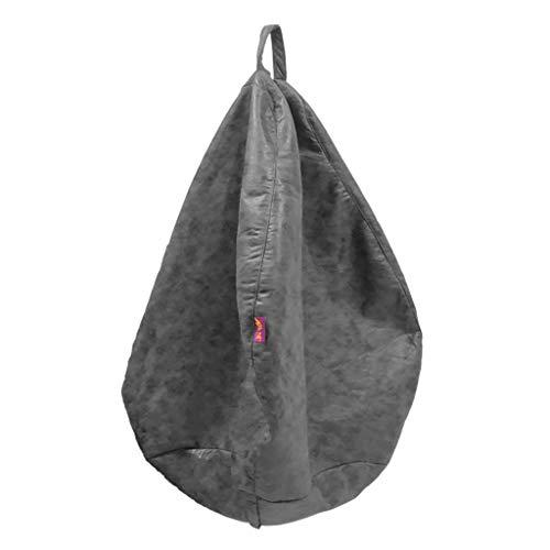 PETSOLA Sitzsack Bezug Sitzsackhülle Sitzsackbezug Abdeckung Cover ohne Füllung - Grau-L