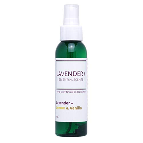 Sleep Spray for Rest and Relaxation, Pillow and Linen Mist with Lavender Blends. Nighttime Sleep Aid to Ease Insomnia (Lemon & Vanilla & Lavender)