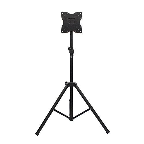 Audio 2000S AST425Y Portable Flat Panel LCD TV Monitor Stand with Foldable Tripod Stand