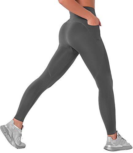 COMFREE Mallas Deportivas Leggins Deportivos Mujer Push up Mallas Pantalones Cintura Alta Yoga Pantalón Moda Sin Costuras para Fitness Running Deporte Elásticos y Transpirables