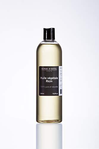 Huile de Ricin 500ml 1ère Pression à Froid 100% Pure Spécial Cheveux Aide Repousse Cheveux Barbe Fortifiant Cheveux. Stimule et Favorise la Pousse et Repousse des Cheveux.