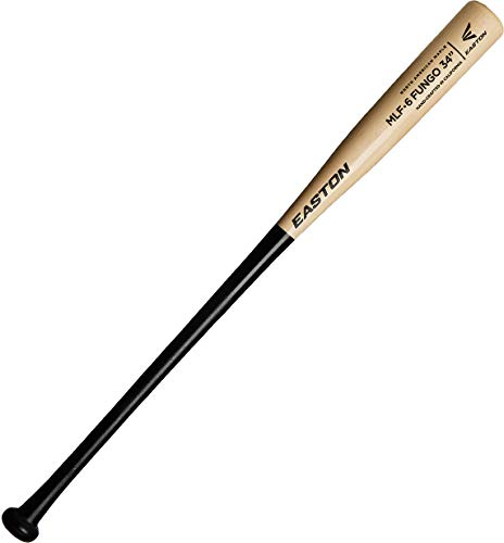 EASTON MLF5 Maple Fungo Wood Baseball Bat | 37 Inch | Black / Clear | 2020 | Handcrafted in USA