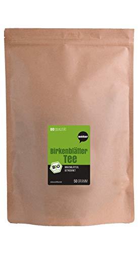 Wohltuer Bio Birkenblätter Tee aus qualifizierter europäischer Wildsammlung 50g   Harntreibend & Entschlackend   Kräutertee zur Steigerung des Stoffwechsels