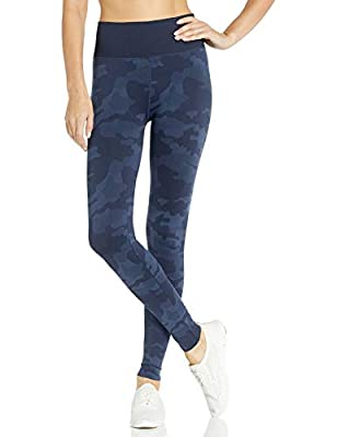 Splendid Women's Studio Activewear Workout Athletic Seamless Legging Bottom, Peacoat camo, Medium