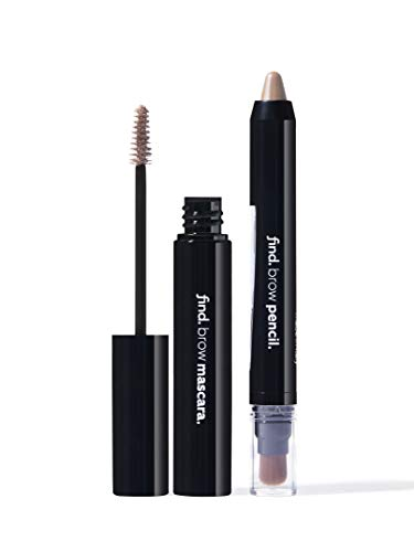 Amazon-Marke: find. Blonde & Bold (Augenbrauen-Highlighter mit Kabuki n.1 + Augenbrauen-Mascara n.1)