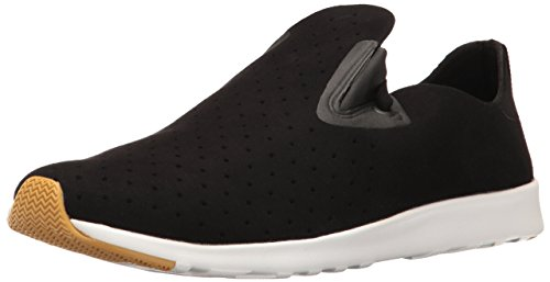 Native Shoes Unisex Apollo Moc Sneaker, Jiffy Black/Shell White/Natural Rubber, 11.5 US Men