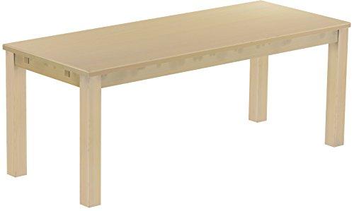 Brasil Furniture Eettafel Rio Classico grootte en kleur naar keuze houten tafel massief grenen, eetkamertafel keukentafel echt hout uittrekbaar klaar voor aansteekplaten Rustiek Tisch 200 x 80 cm 111 berk