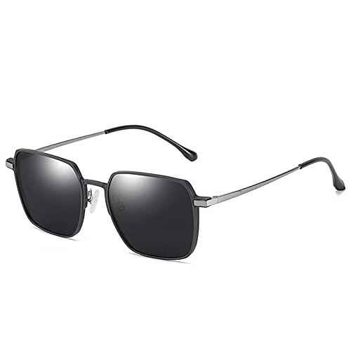 NBJSL Gafas de sol redondas vintage para mujer Estilo de ojo de cerradura con protección UV para conducir Estuche para gafas de sol exquisito