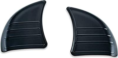 Kuryakyn 6979 Motorcycle Accent Accessory: Tri-Line Inner Fairing Cover Plates for 2014-19 Harley-Davidson Touring & Trike Motorcycles, Gloss Black, 1 Pair from Kuryakyn