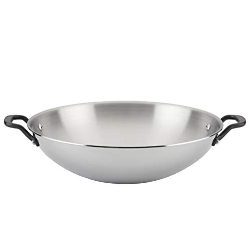 KitchenAid 5-Ply Clad Polished Stainless Steel Stir Fry/Wok, 15 Inch