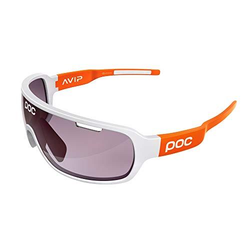 POC DO Half Blade AVIP Sunglasses, Unisex Adulto, Hydrogen White/Zink Orange, One