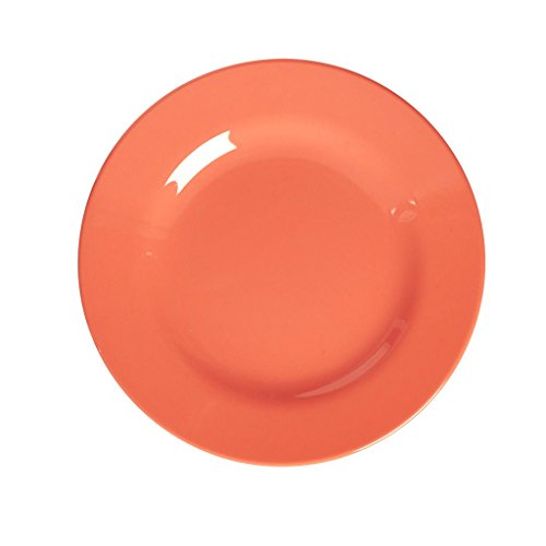 RICE Assiette Plate 25 CM - Pastel Neon Corail