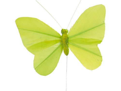 Artificielles - Papillons artificiels x 6 vert l 8 5 x h 5 cm - choisissez votre coloris: vert