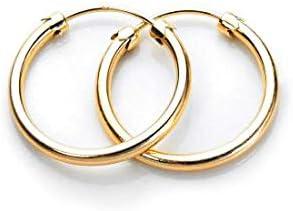 32mm Diameter Square Hoop Earring 9k White Gold