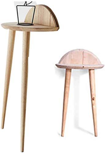 Wall Shelf Estantes flotantes para sofá, mesa auxiliar, mesa para revistas, mesa de teléfono, mesa de té alta de madera, estante de almacenamiento de esquina (tamaño: M-H:68 cm)