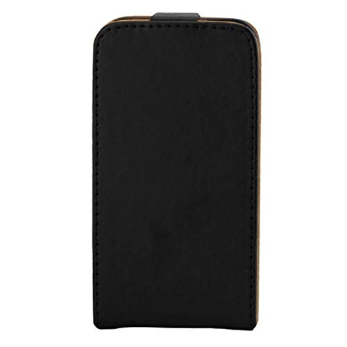 YANTAIANJANE Estuches de Cuero de teléfono For Samsung Galaxy J1 Mini / J105 Funda de Cuero de Flip Vertical con Hebilla magnética (Color : Black)