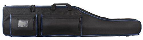 ahg Anschütz ahg-Gewehrfutteral mit Rucksackriemen #9204 Futteral Für Jäger Und Sportschützen, schwarz/Blau, 135x30x10cm