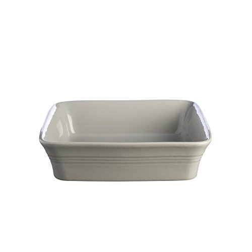 Mason Cash Classic Kitchen Stoneware Square Baking Roasting Serving Dish, Ceramic, Grey, 26 x 26 x 7 cm