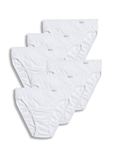 Jockey Women's Underwear Elance French Cut - 6 Pack, White, 7