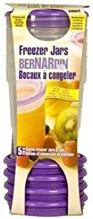 Bernardin Freezer Jars - Plastic - 8 oz