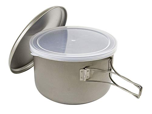 Snow Peak Titanium Cook Save Pot, Japanese Titanium, Ultralight and Compact for Camping, Made in Japan, Lifetime Product Guarantee