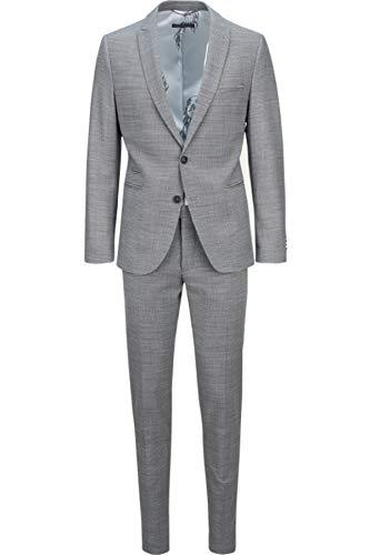Drykorn Herren Anzug in Schwarz-Weiß Gemustert 52 / XL