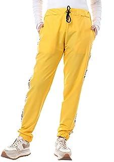 Andora Cotton Drawstring Elastic Waist Side-Pocket Sweatpants for Women