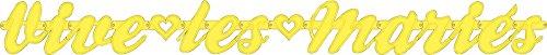 Discount Mariage - Guirlande vive les mariés jaune