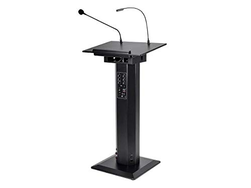Monoprice Commercial Audio 60W Powered Podium Lectern with Built-in Speakers and Gooseneck Microphone