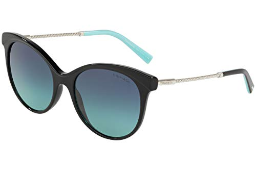 Tiffany & Co. TF4149 Zonnebril Zwart w/Blue Gradient Lens 55mm 80019S Tiffany&Co. TF 4149