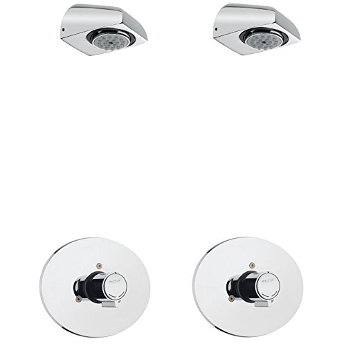 2x Dusch Set Zeitgesteuerte Unterputz-Mischerarmatur mit Duschkopf - Dusche - Kalt/Warm - selbstabschaltend/Vereinsdusche / Wasser sparend