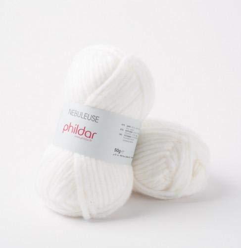 Phildar - Ovillo de lana de color blanco