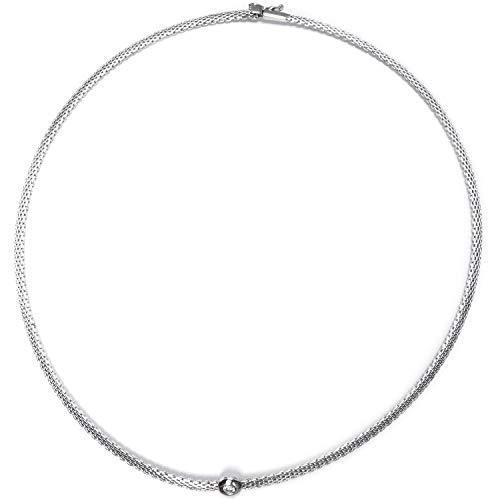 CEM Flaches Damen-Collier 925/ Silber mit Zirkonia