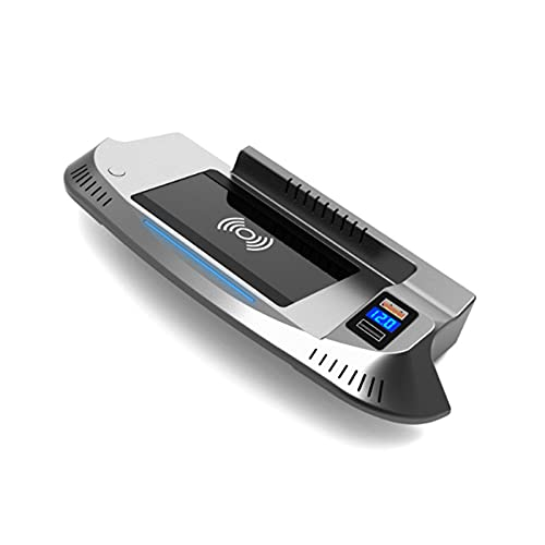HJJH 15W Qi Cargador de teléfono de Carga rápida Pad Mat Panel de Accesorios de Consola Central con Puerto USB QC3.0 para Ford Mustang 2015 2016 2017 2018 2019 2020 2021
