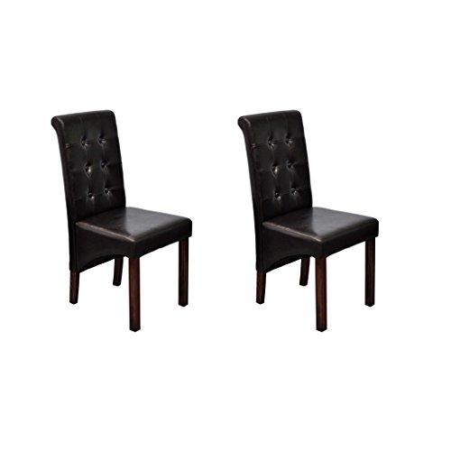 vidaXL 2 Stühle Stuhlgruppe Hochlehner Esszimmerstühle Essgruppe Sitzgruppe braun