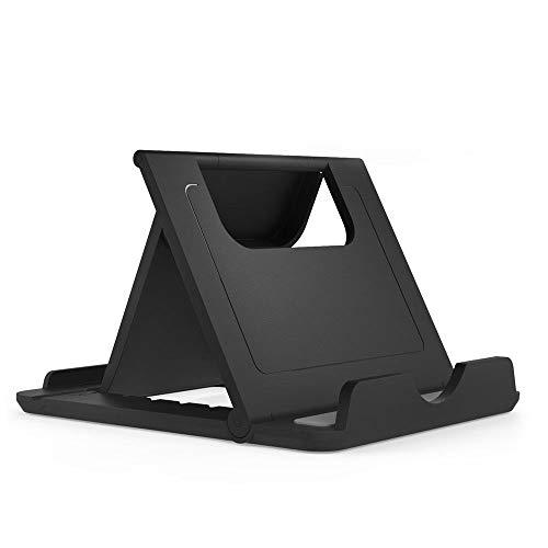 DFV mobile - Soporte Atril de Mesa Escritorio Plegable Multiángulo Universal Ajustable para Smartphone y Tablet para Huawei Y6II Compact (Huawei Lyon) - Negra