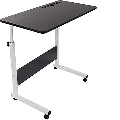 GRANDMA SHARK Scrivania per Laptop, Scrivania Mobile Regolabile in Altezza con Slot per PC per Tablet Cellulare, Tavolino Portatile per Divano Letto (Nero, 80 × 40 cm)