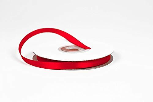 Creativery Rouleau de ruban en satin 6 mm 25 m Rouge 250