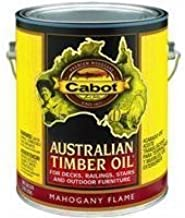 Cabot Stains 3459 Australian Timber Oil Penetrating Formula, 1 gallon, Mahogany Flame by Cabot Stains