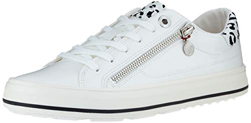 s.Oliver Damen 5-5-23615-24 Sneaker, Weiß (White Patent 123), 39 EU